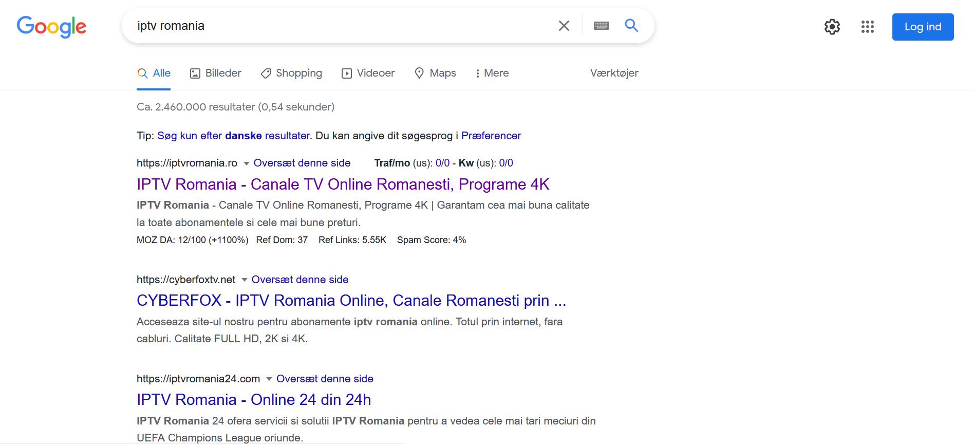 locul 1 in google reseller iptv romania
